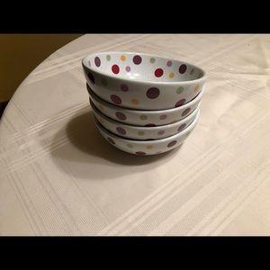 Pampered Chef Polka Dot Bowls